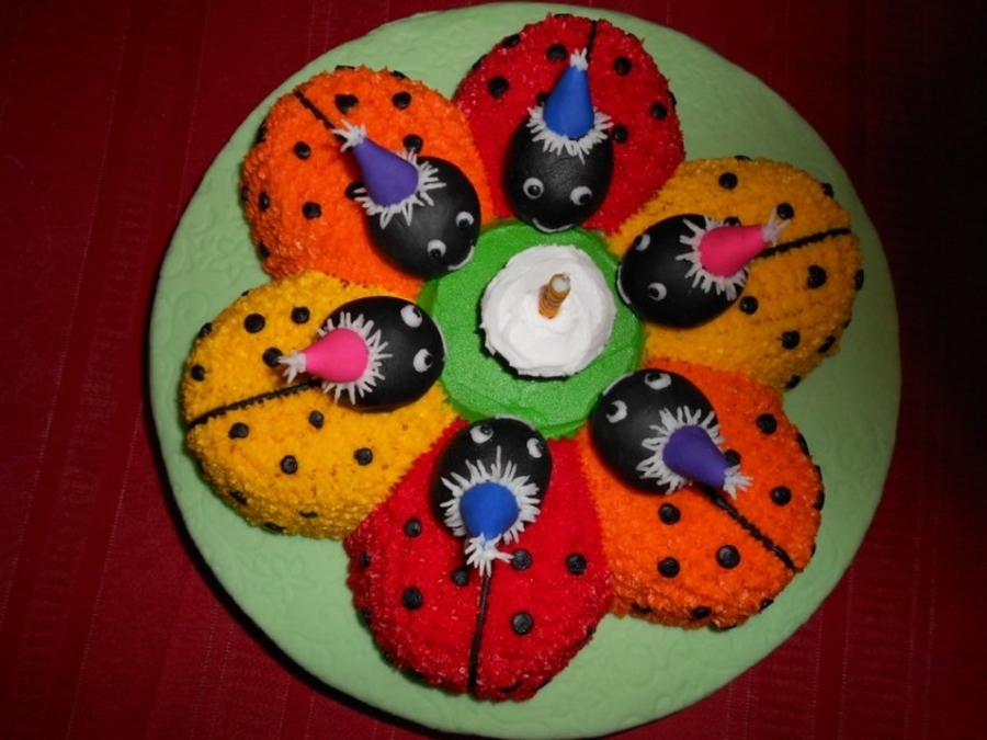 Flower Bug Cake  on Cake Central