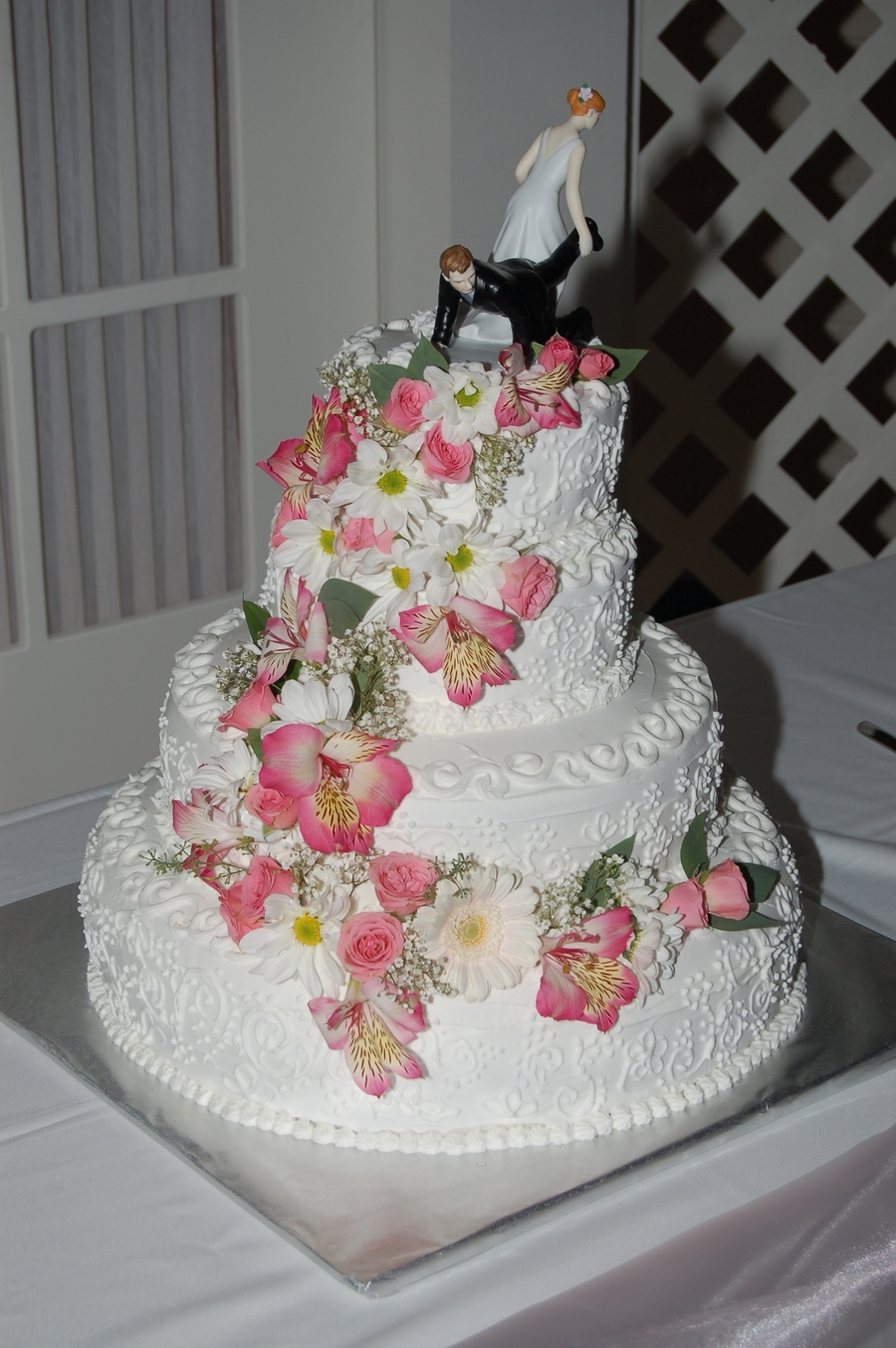 Son's Wedding Cake on Cake Central