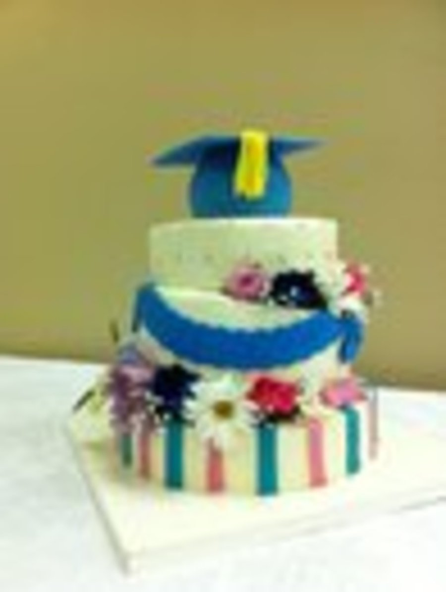 Grad Wedge Cake on Cake Central