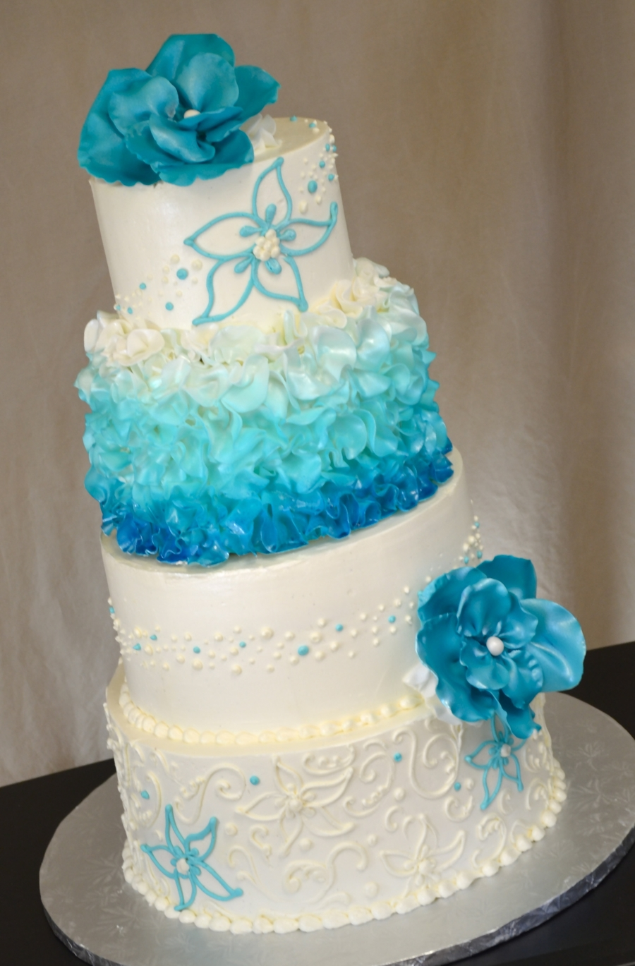 Malibu Ruffle  on Cake Central