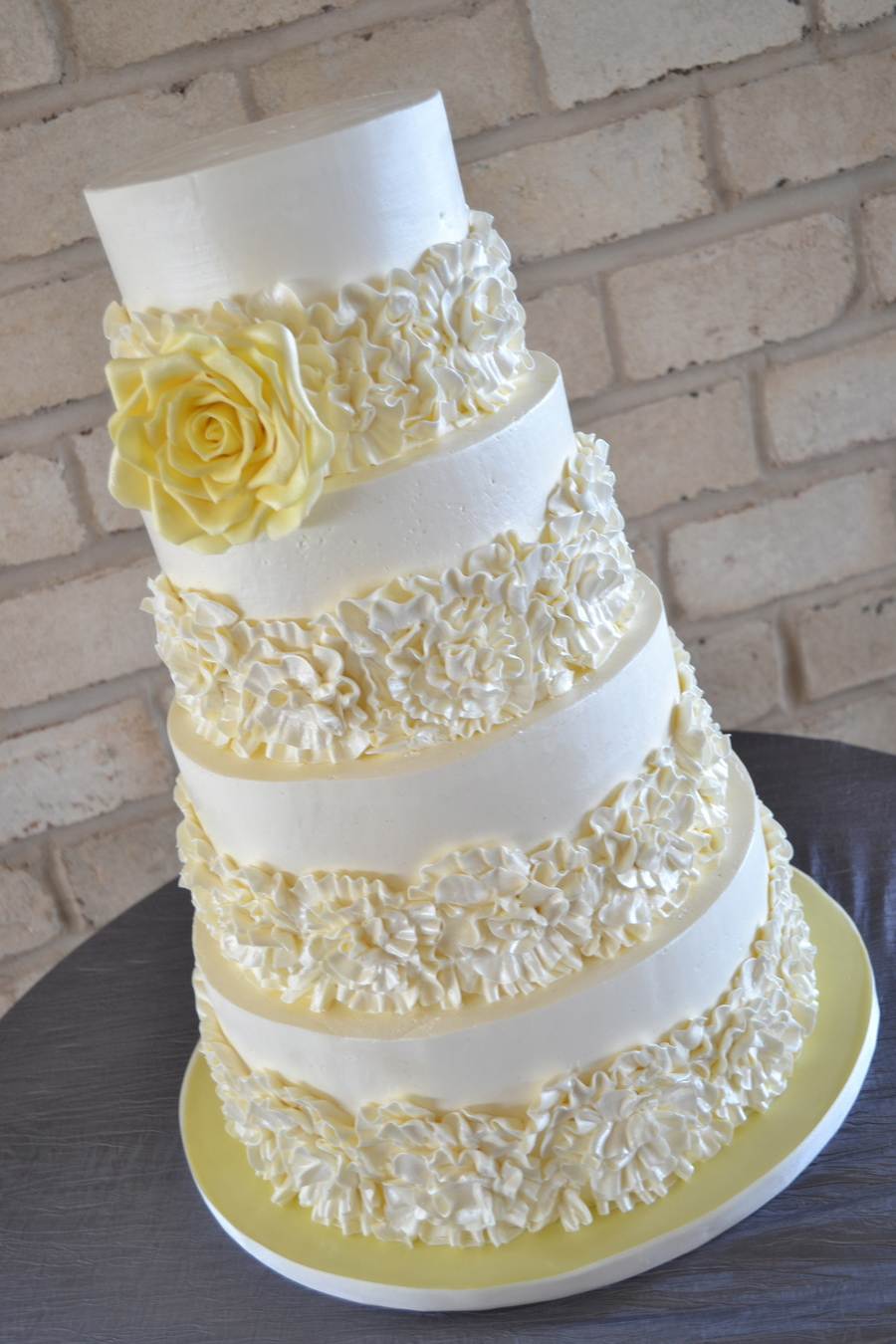 Buttercream Ruffles Wedding Cake  on Cake Central