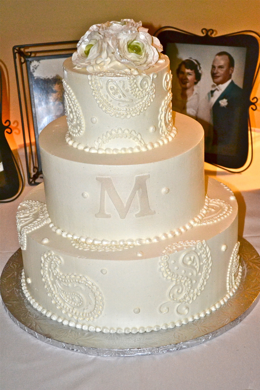 Paisley Wedding Cake on Cake Central