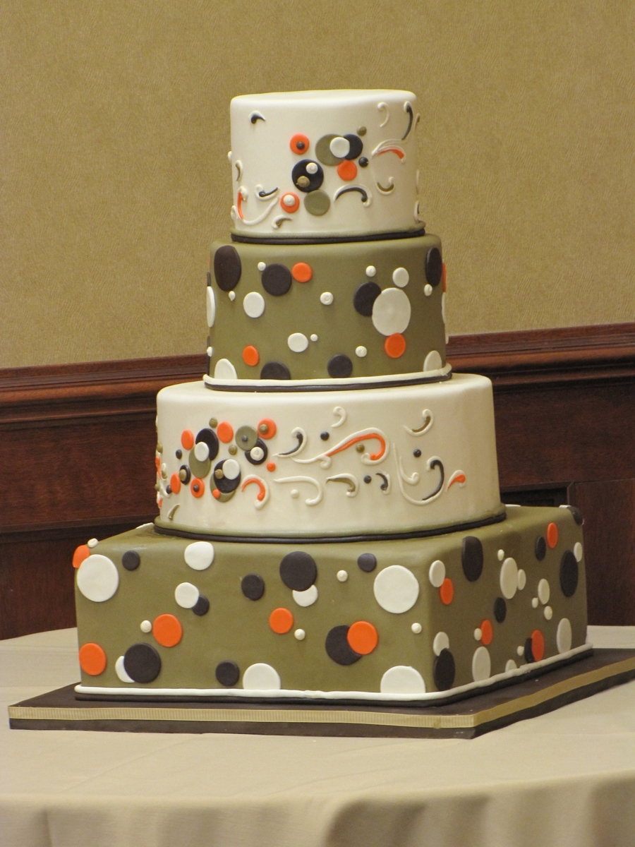 Fun And Flirty Polka Dot Cake  on Cake Central