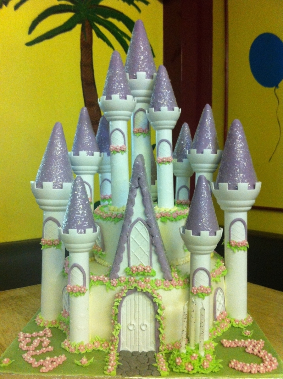 Wilton Romantic Castle Cake  on Cake Central
