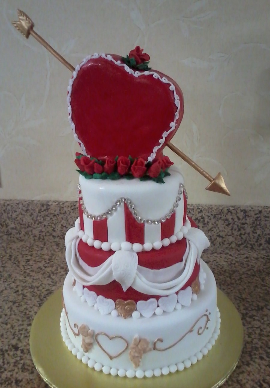 Cupid'S Arrow (Valentine'S Day Heart Cake) on Cake Central