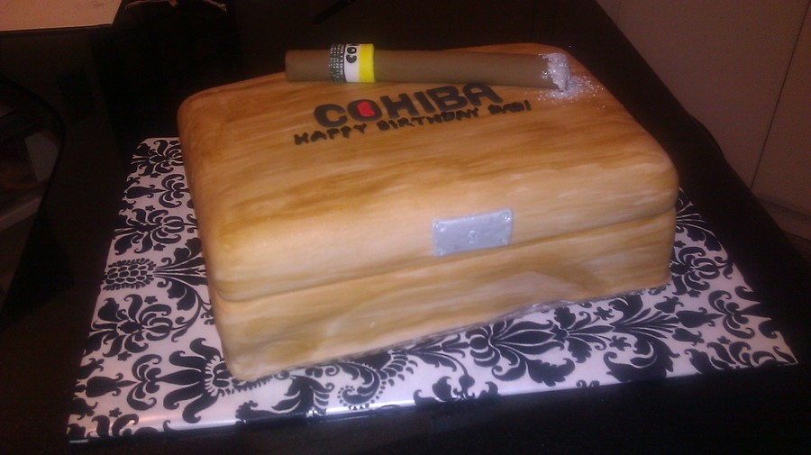 Cohiba Cigar And Humidor on Cake Central