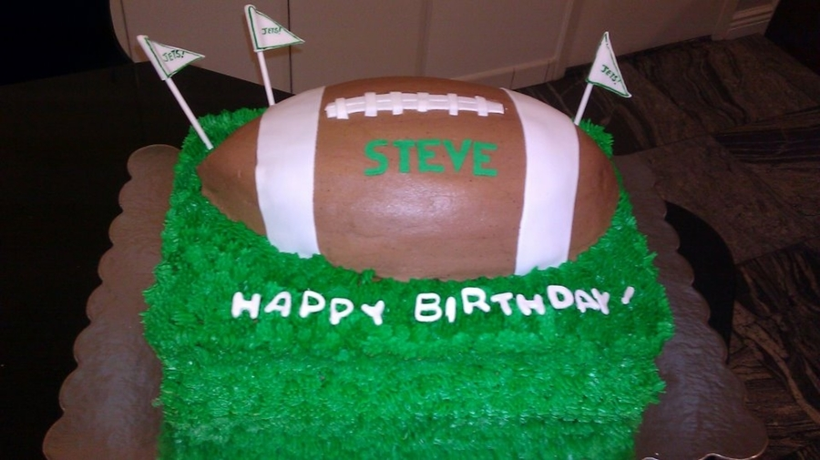 Football And Grass on Cake Central