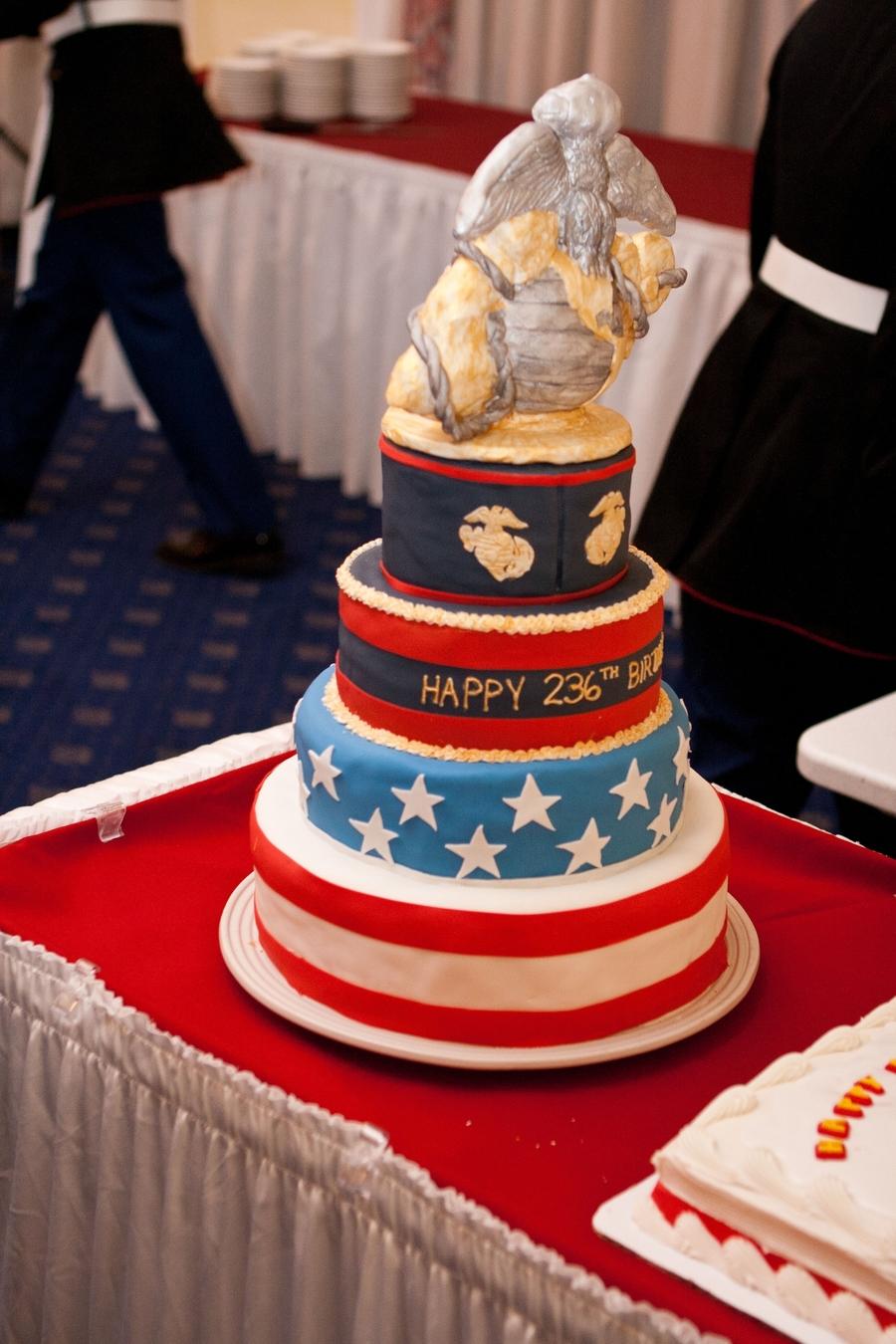 Stupendous Marine Corps Birthday Ball Cakecentral Com Birthday Cards Printable Trancafe Filternl