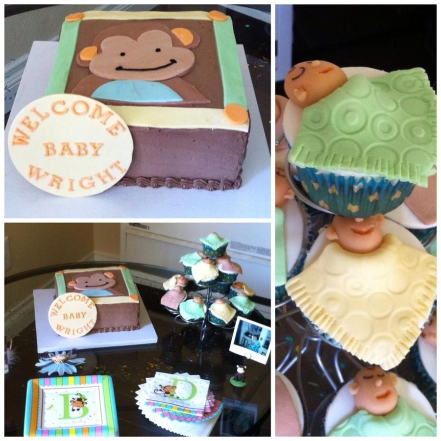 Monkey Theme Baby Shower on Cake Central