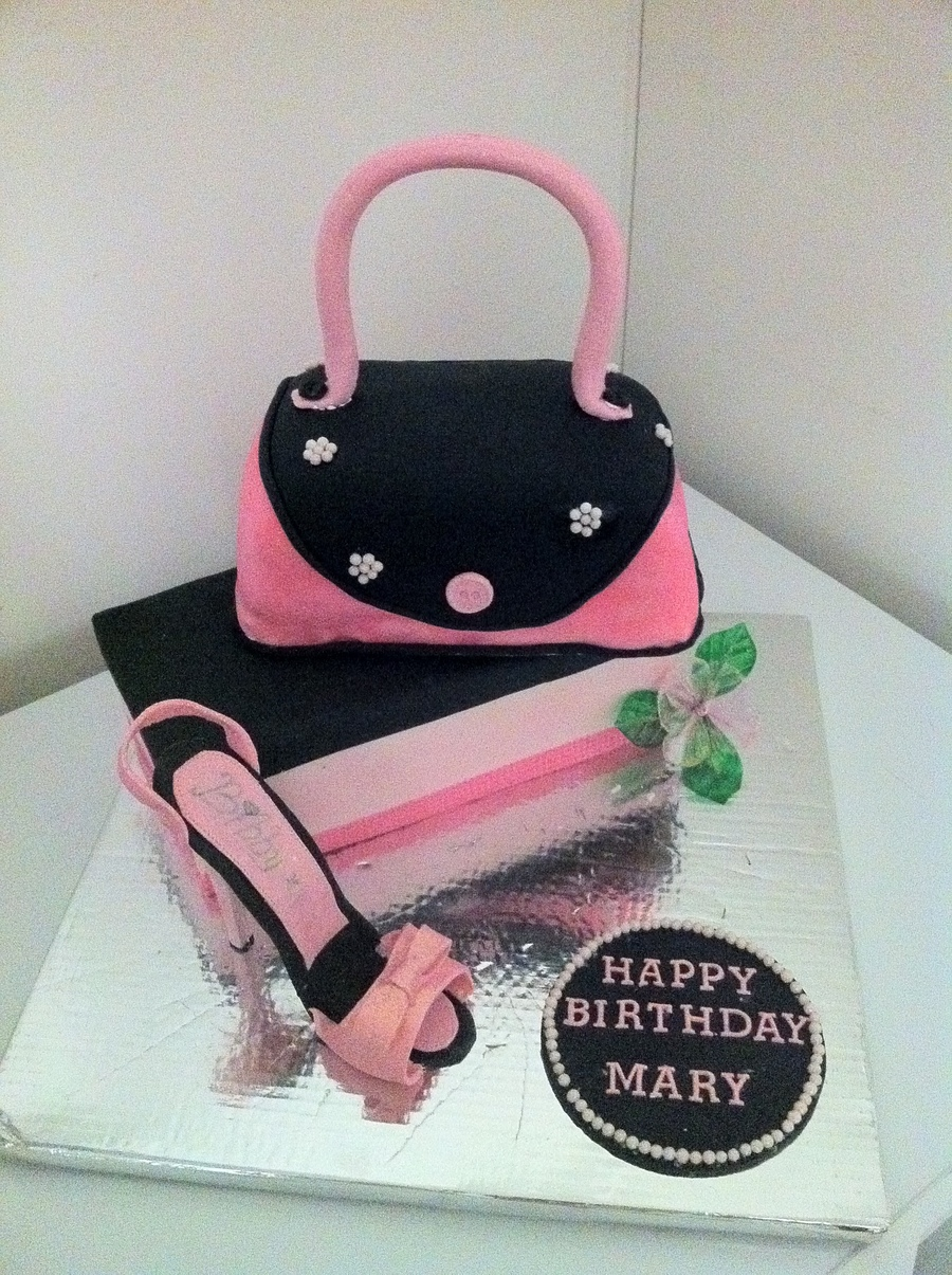 Purse, Shoe, Shoe Box on Cake Central
