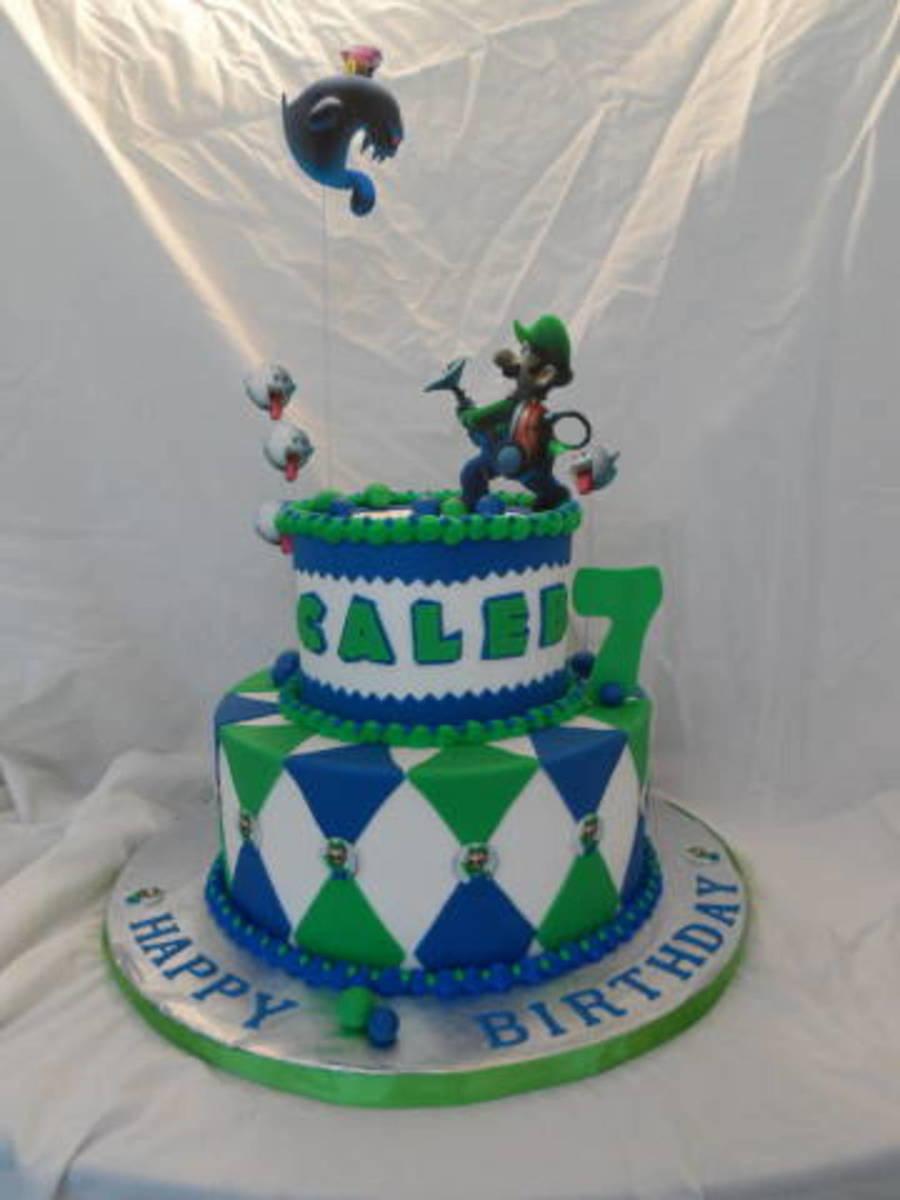 Luigi Mansion Birthday Cake