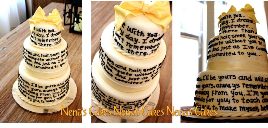 A Soldier's Letter Wedding Cake on Cake Central
