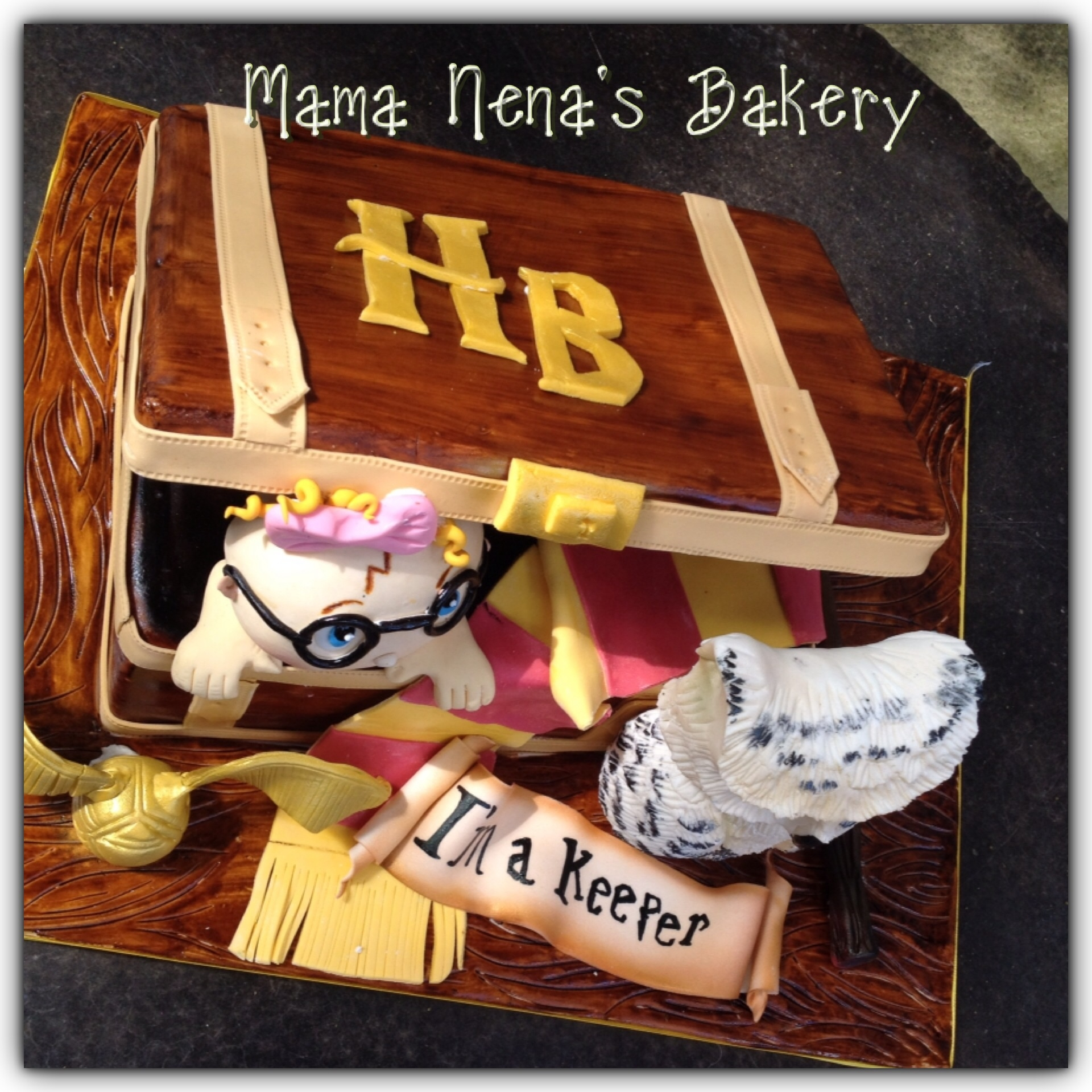Elegant Harry Potter Trunk Baby Shower Cake All Is Edible