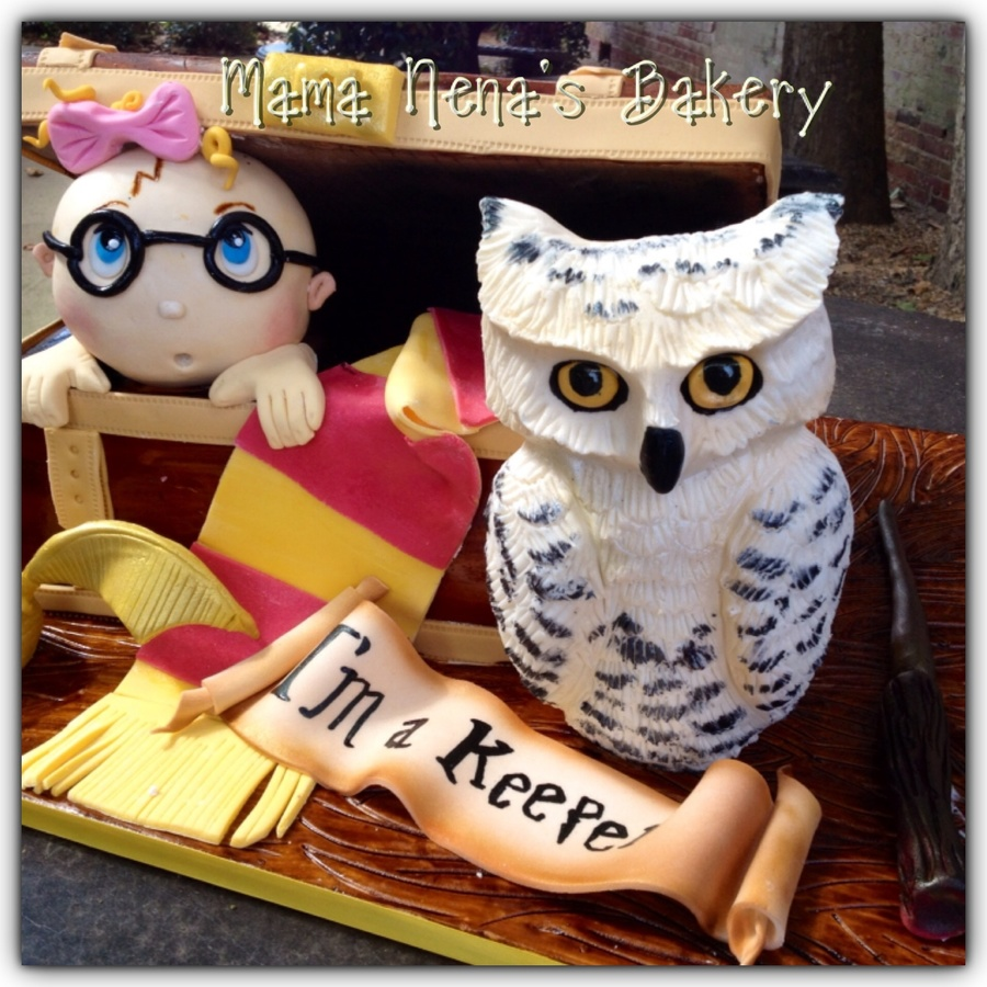 Harry Potter Baby Shower Book Cake
