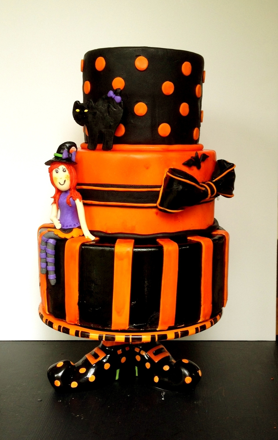 Halloween Birthday Witch Cake  on Cake Central
