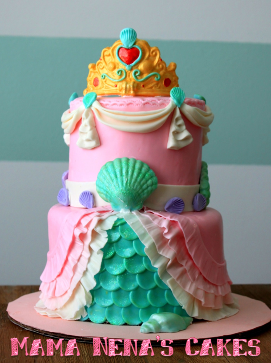 Little Princess Cake Images : Little Mermaid Princess Cake First Birthday - CakeCentral.com