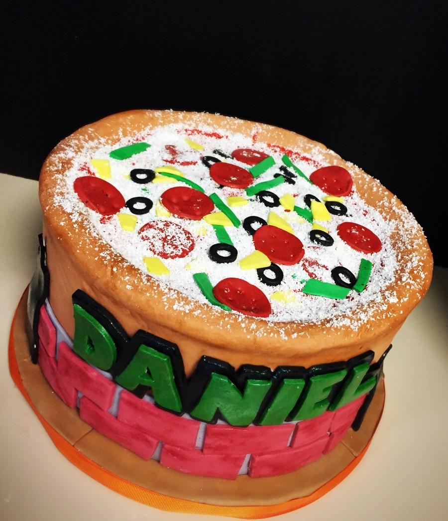Astonishing Ninja Turtle Pizza Theme Cake Cakecentral Com Funny Birthday Cards Online Kookostrdamsfinfo