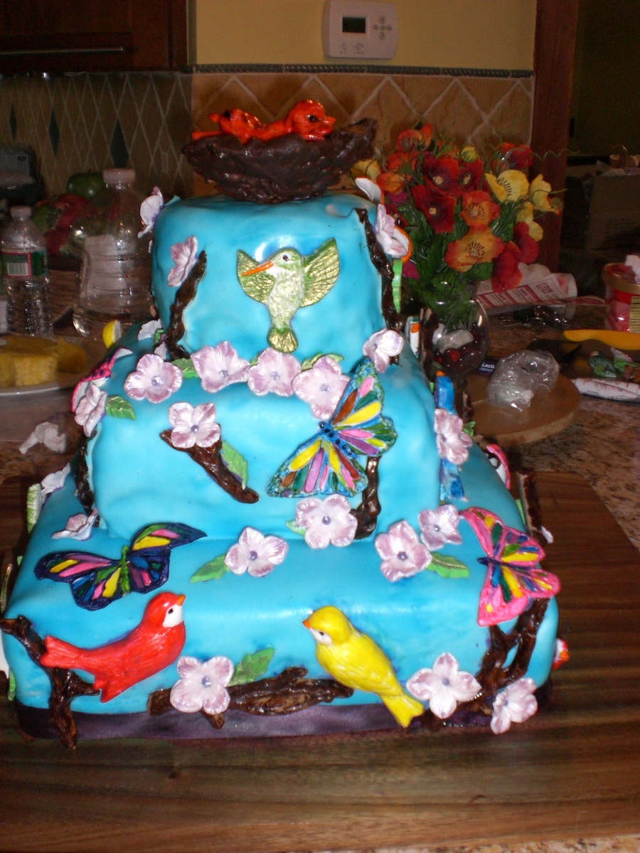 Bird And Butterfly Madness on Cake Central