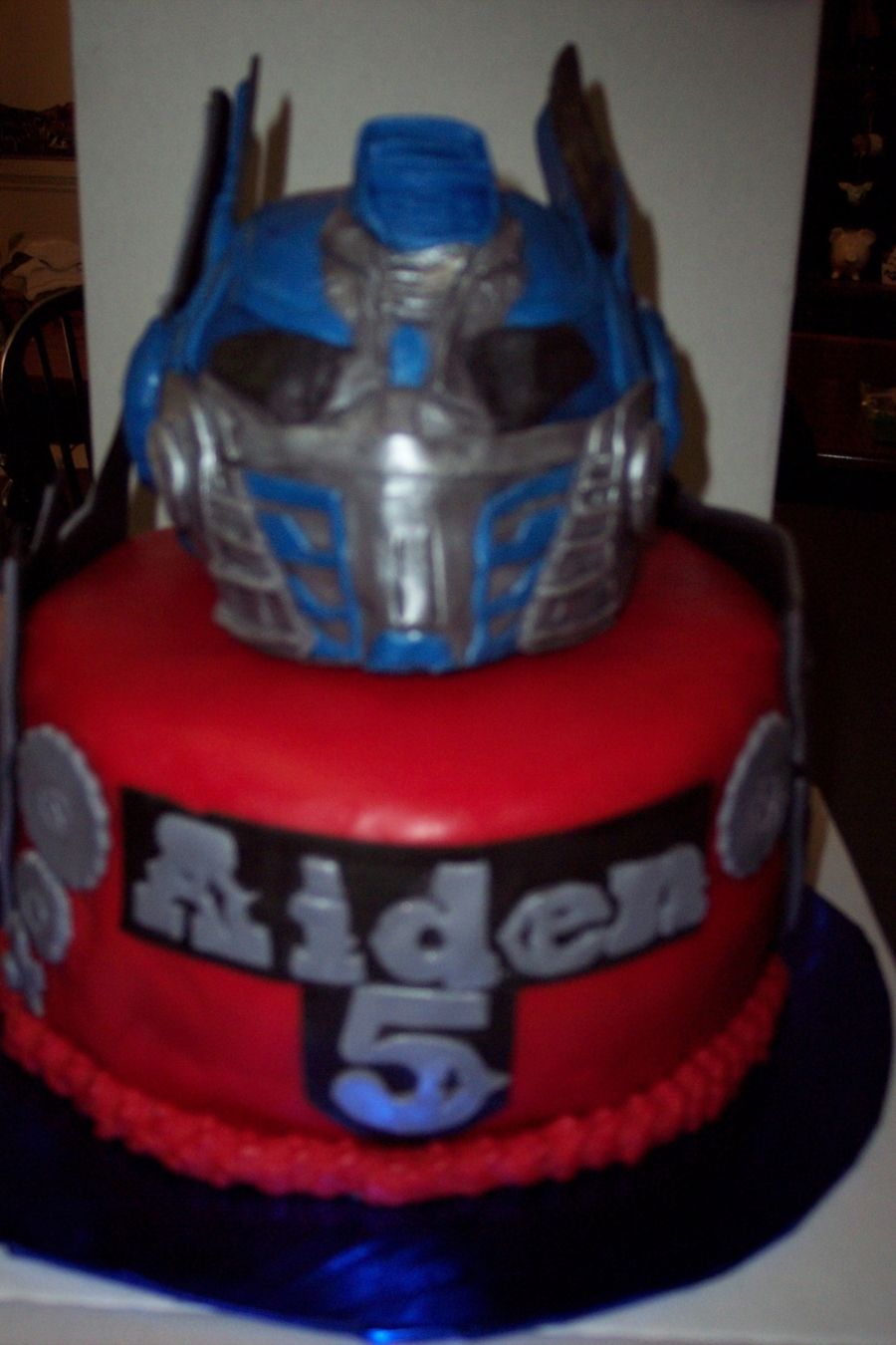 Pleasing Optimus Prime Transformers Birthday Cake Cakecentral Com Personalised Birthday Cards Paralily Jamesorg