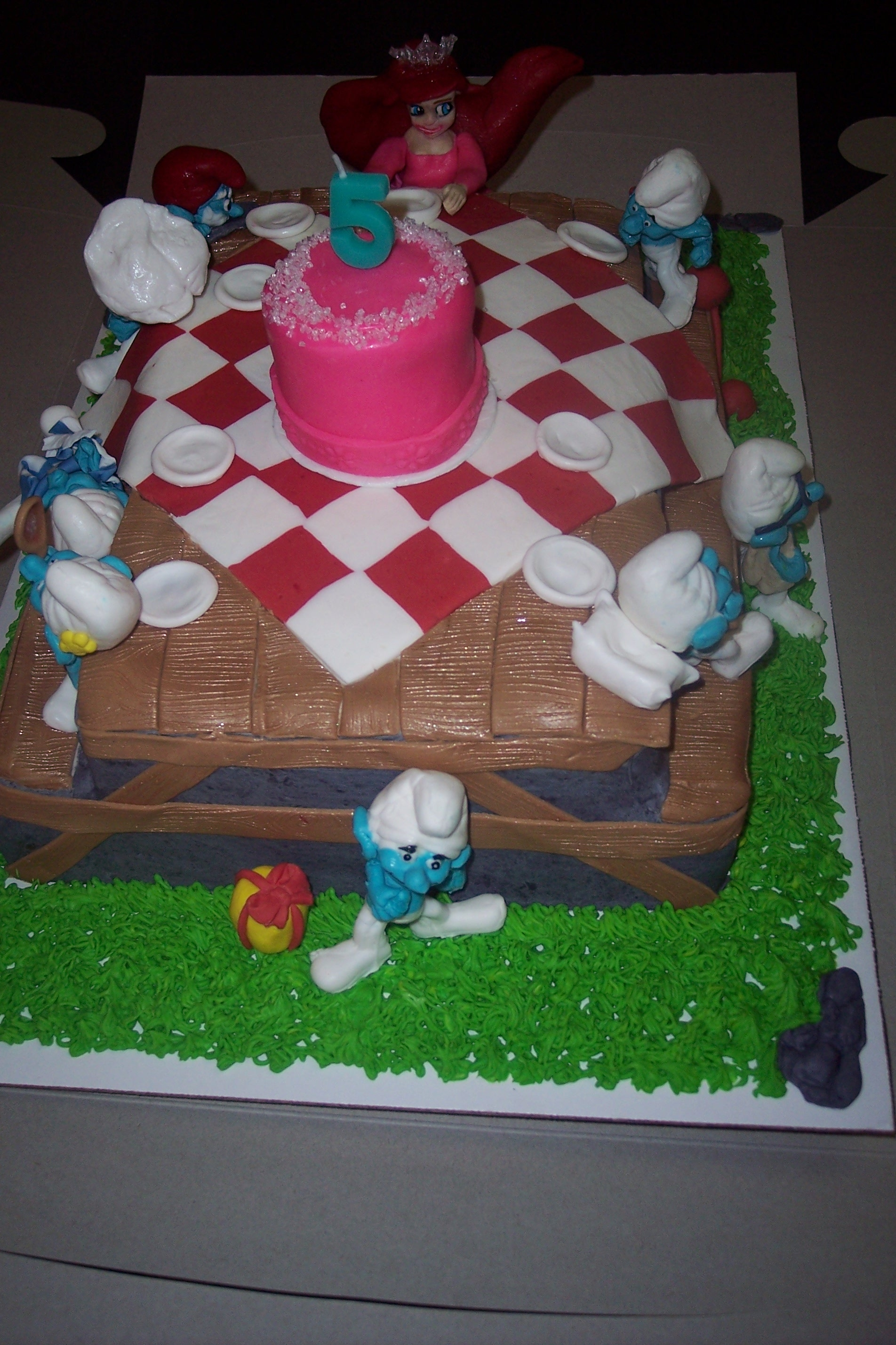 Ariel Cake Decorations What Happens When The Smurfs Throw Disneys Ariel A Birthday Party