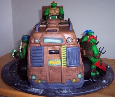 Front The Decals On Cake Are Edible Image Prints Just Like Toy Would Have Turtles 100 Modeling Chocolate And Fondant With No