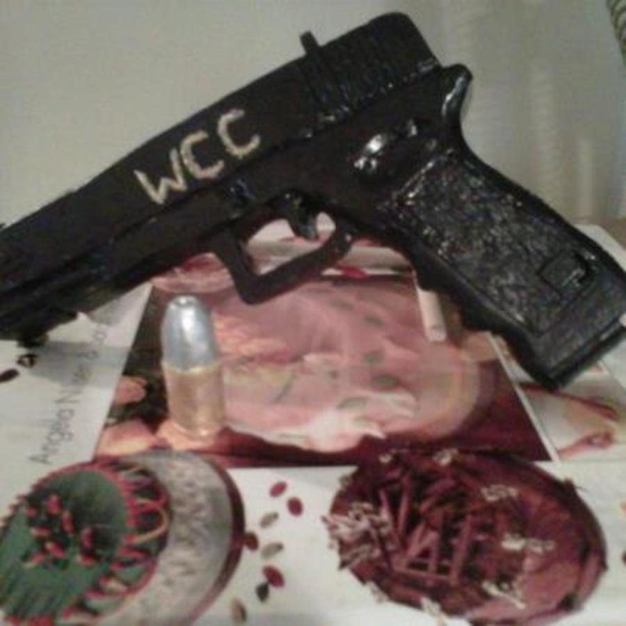 Handmade Gum Paste Glock With Bullet  on Cake Central