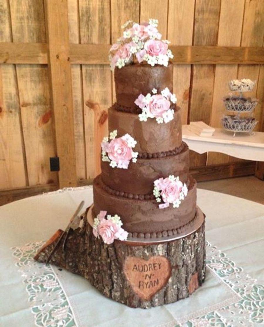 Rustic Wedding Cakes: Rustic Themed Wedding Cake