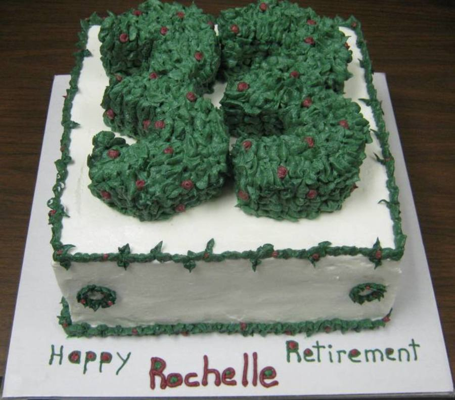 Retirement Cake With A Christmas Theme on Cake Central