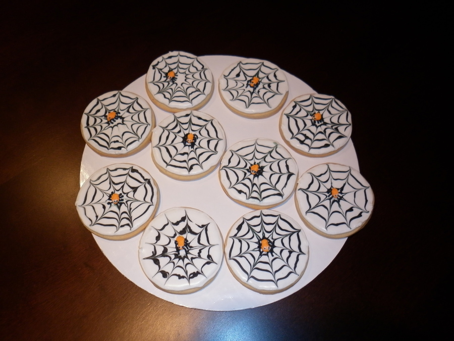 Spider Web Cookies  on Cake Central