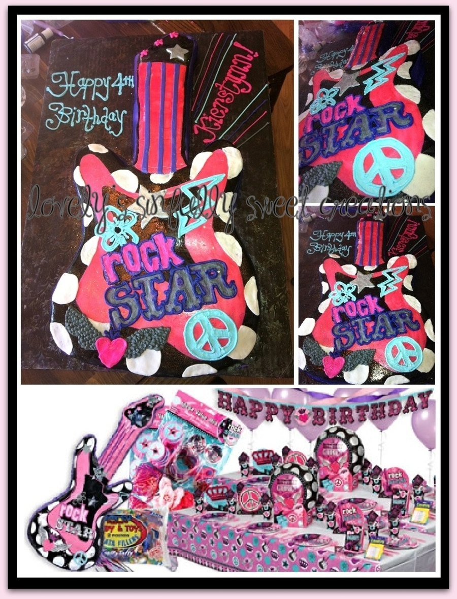 Princess Rocker Guitar on Cake Central