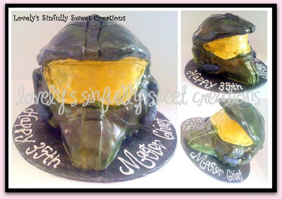3-D Gamer Helmet The Master Chief Halo Mask on Cake Central