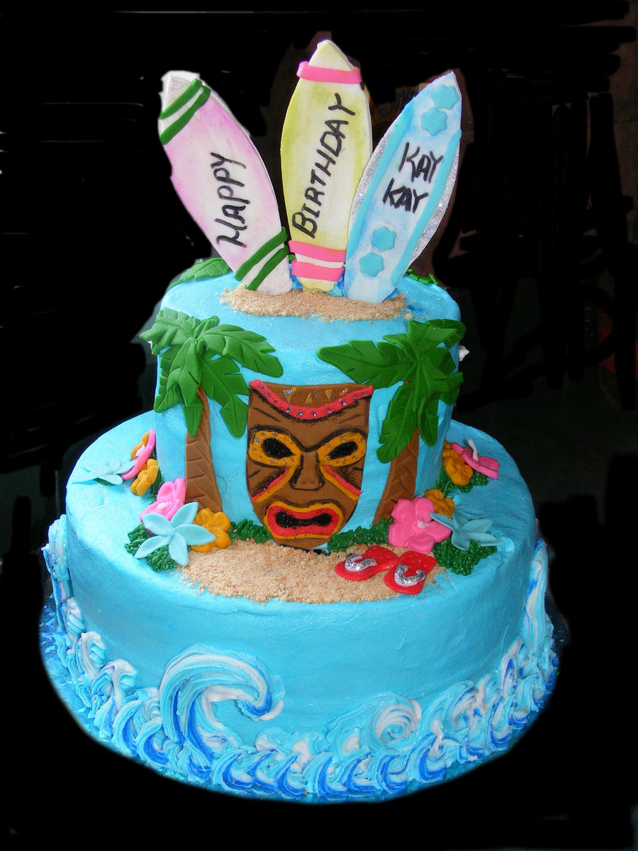 Luau Birthday Cake Cakecentral Com