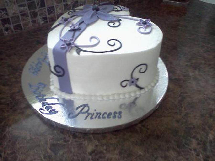 Heart Shaped Birthday Cake Buttercream With Fondant
