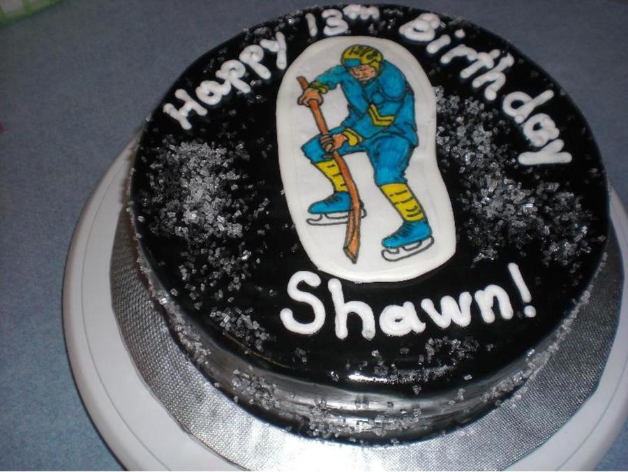 Hockey Puck on Cake Central