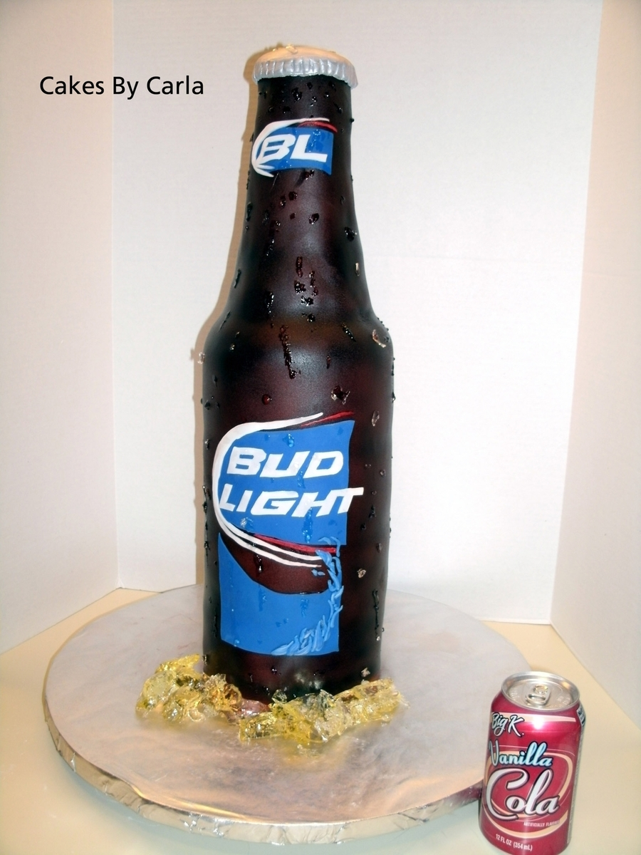Beer Bottle Cake on Cake Central