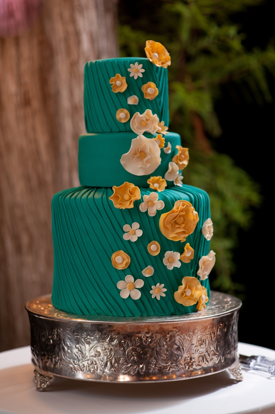 Whimsical Pleated Wedding Cake on Cake Central