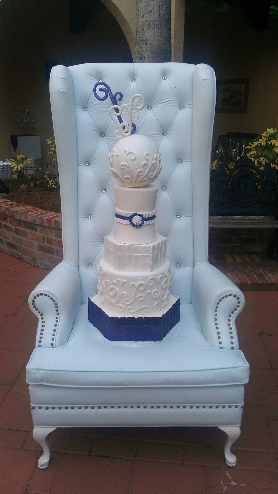 Modern Baroque Wedding Cake on Cake Central