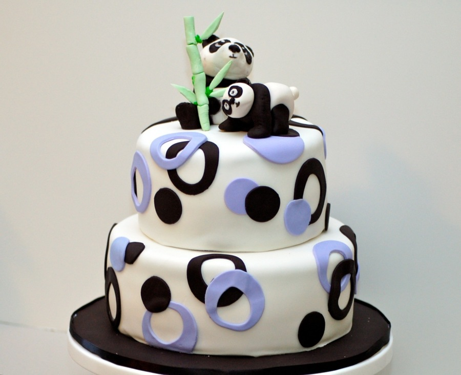 Remarkable Panda Bears Cakecentral Com Funny Birthday Cards Online Inifofree Goldxyz