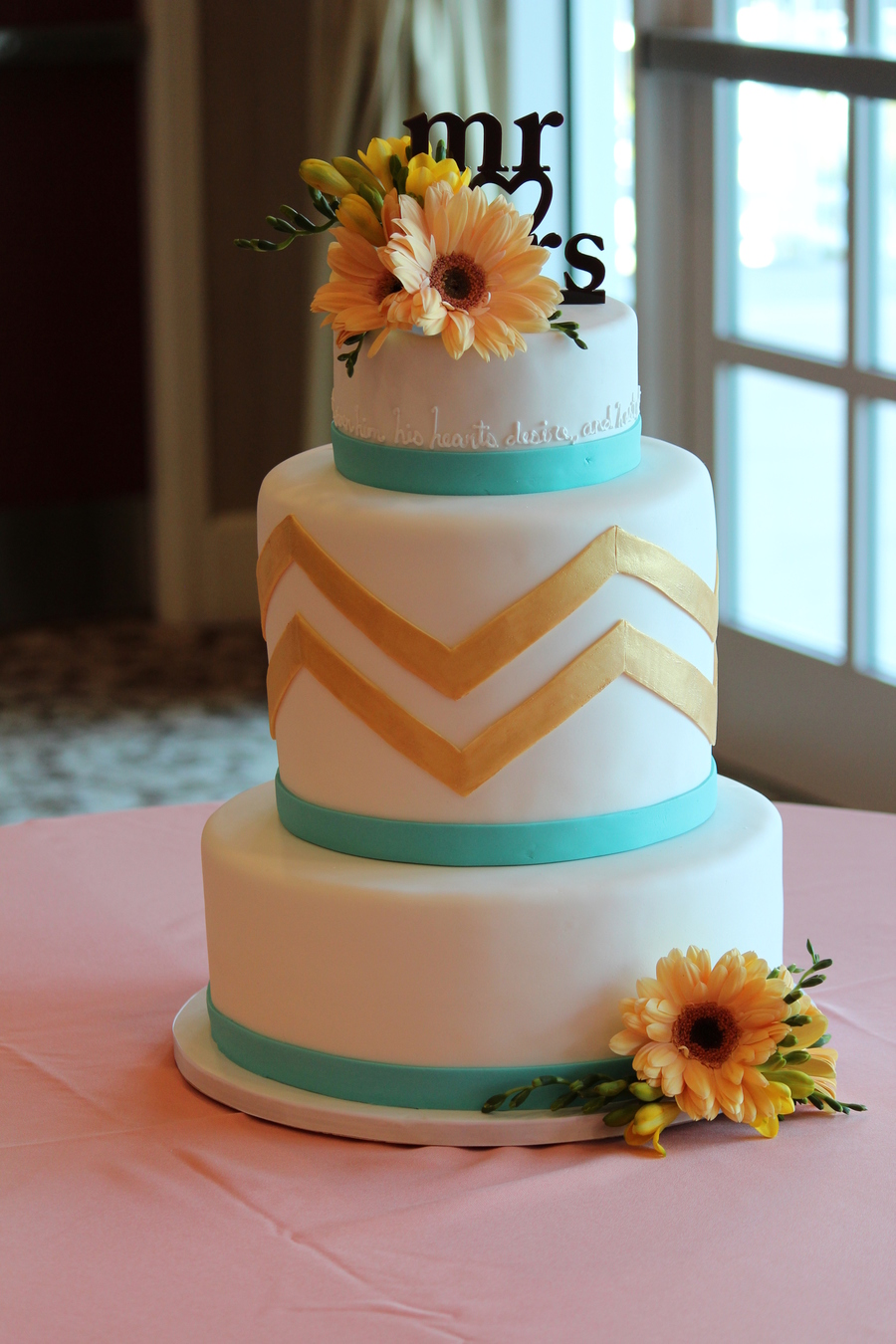 Spring Time Chevron Cake on Cake Central