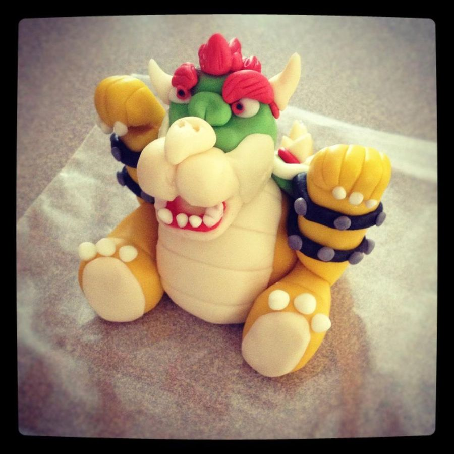 Bowser For My Sons Birthday Cake CakeCentralcom - Bowser birthday cake