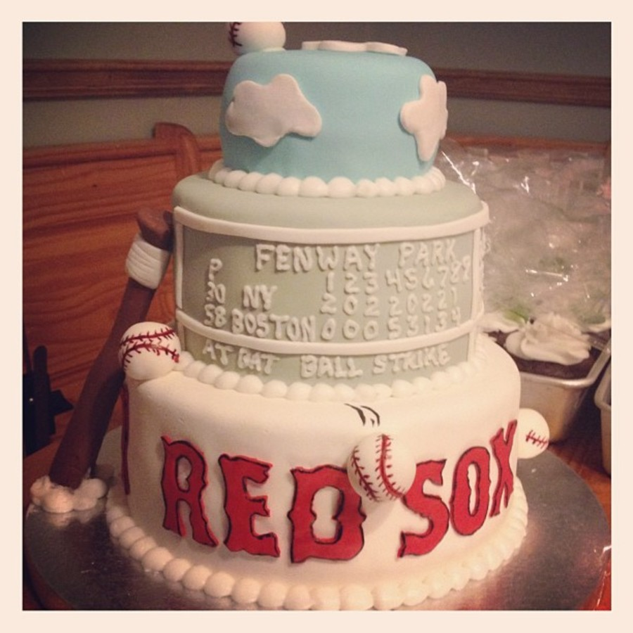 Red Sox Baby Shower Cake on Cake Central