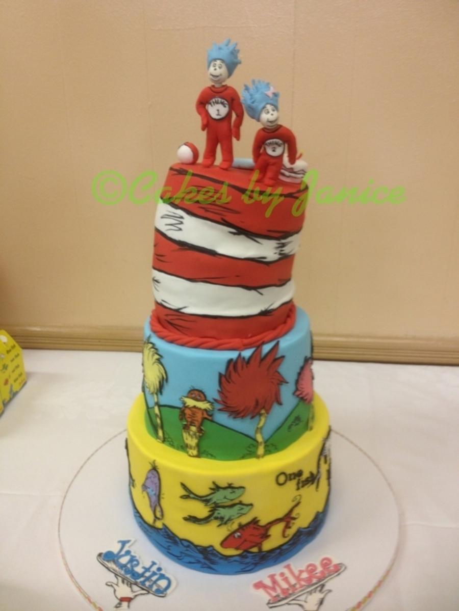 Dr Seuss Themed Bday Cake Cakecentral Com