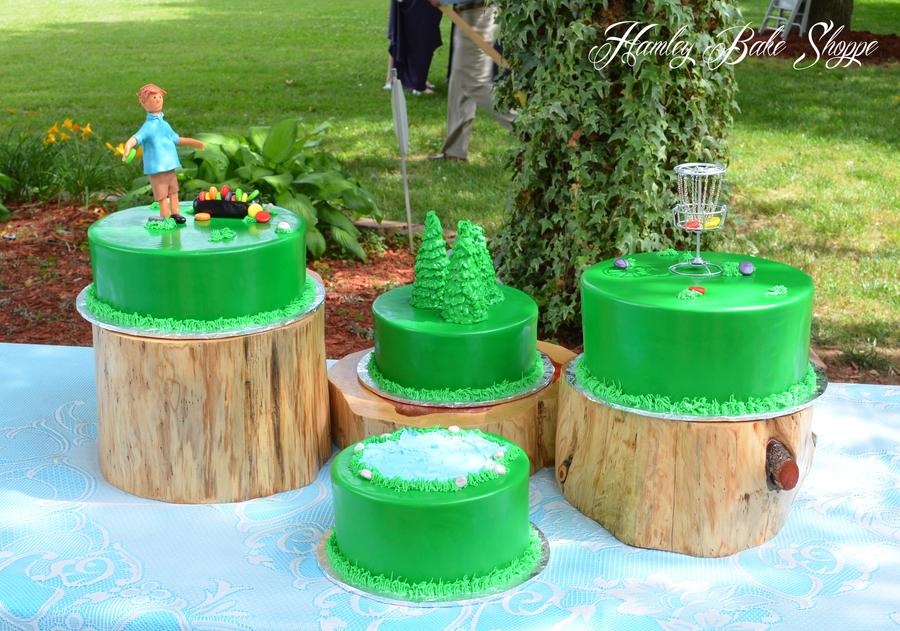 Disc Golf Cake Or Frisbee Golf Grooms Cake