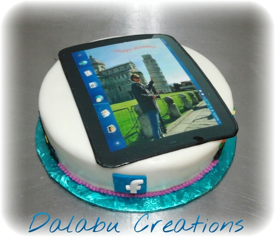 Tablet & Facebook Games Theme on Cake Central