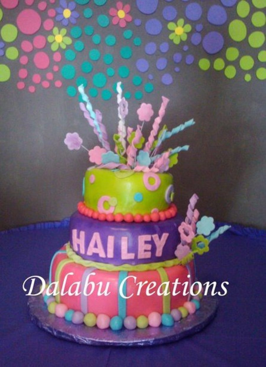 Colorfull Baby Shower For A Girl on Cake Central