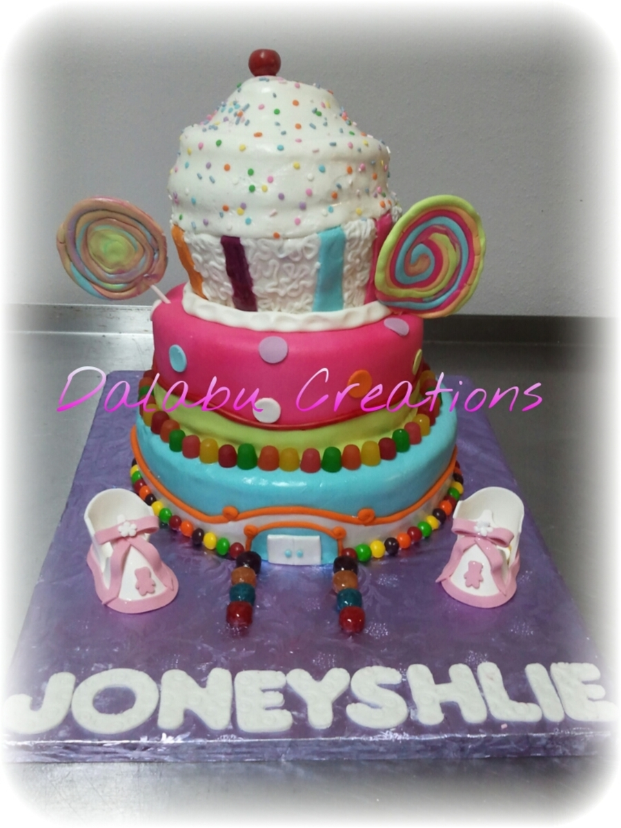 Candy Theme Baby Shower  on Cake Central