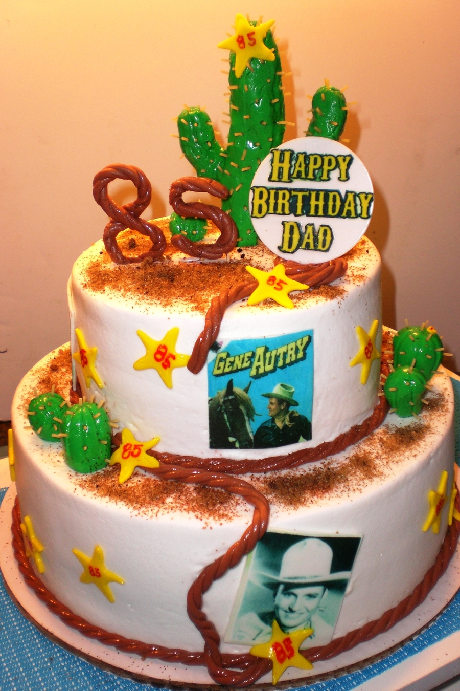 Astonishing Gene Autrey Birthday Cake Cakecentral Com Funny Birthday Cards Online Overcheapnameinfo