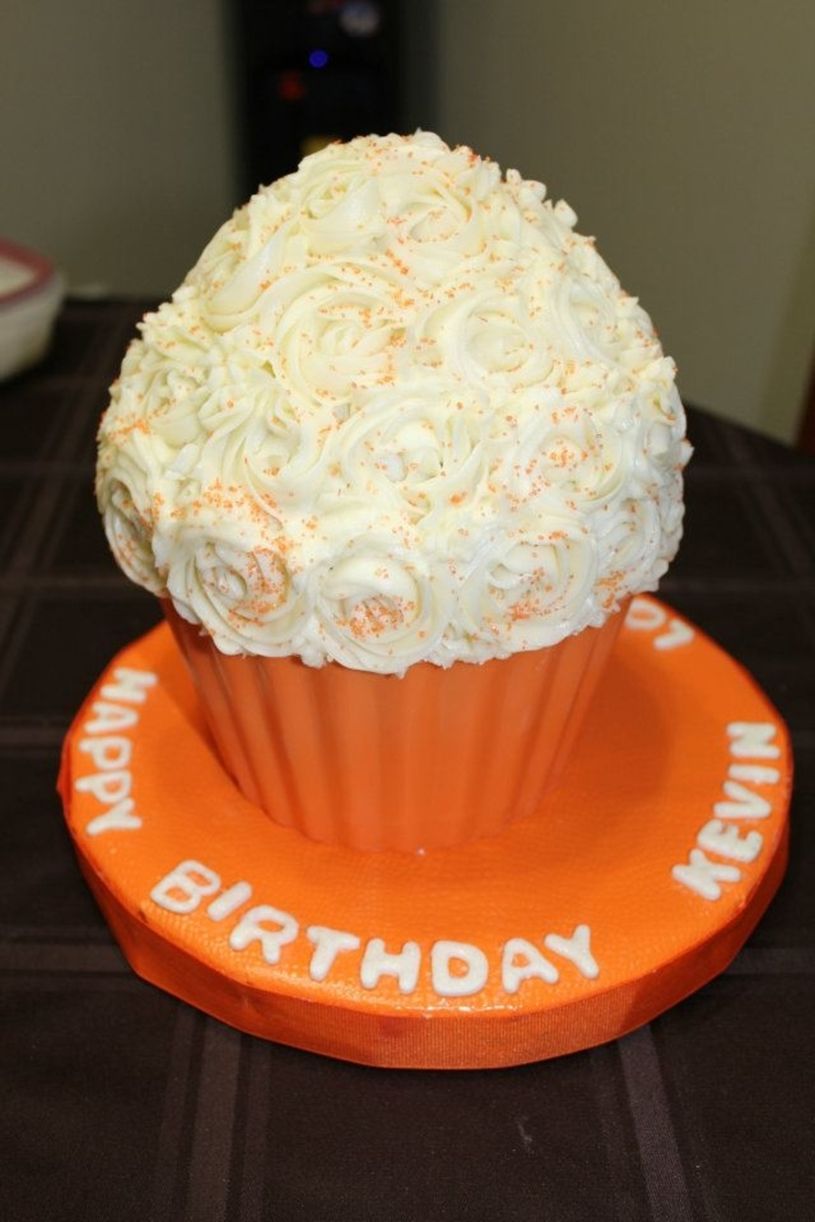 Orange Giant Cupcake on Cake Central