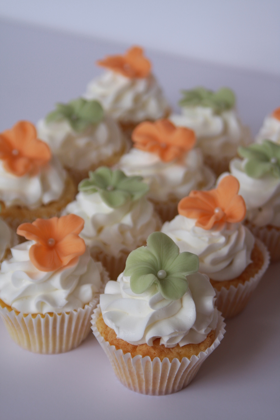 Flower Decorated Cupcakes on Cake Central