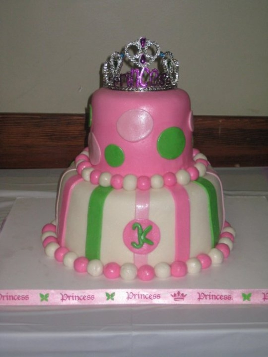 Pink, Lime Princess Cake  on Cake Central